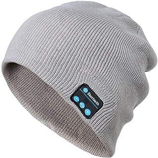 0d025a6233 Fliegend Homme Femme Tricoté Chapeau Bonnet Avec Bluetooth Slouch Beanie  Coton Calotte Chapeau D'hiver