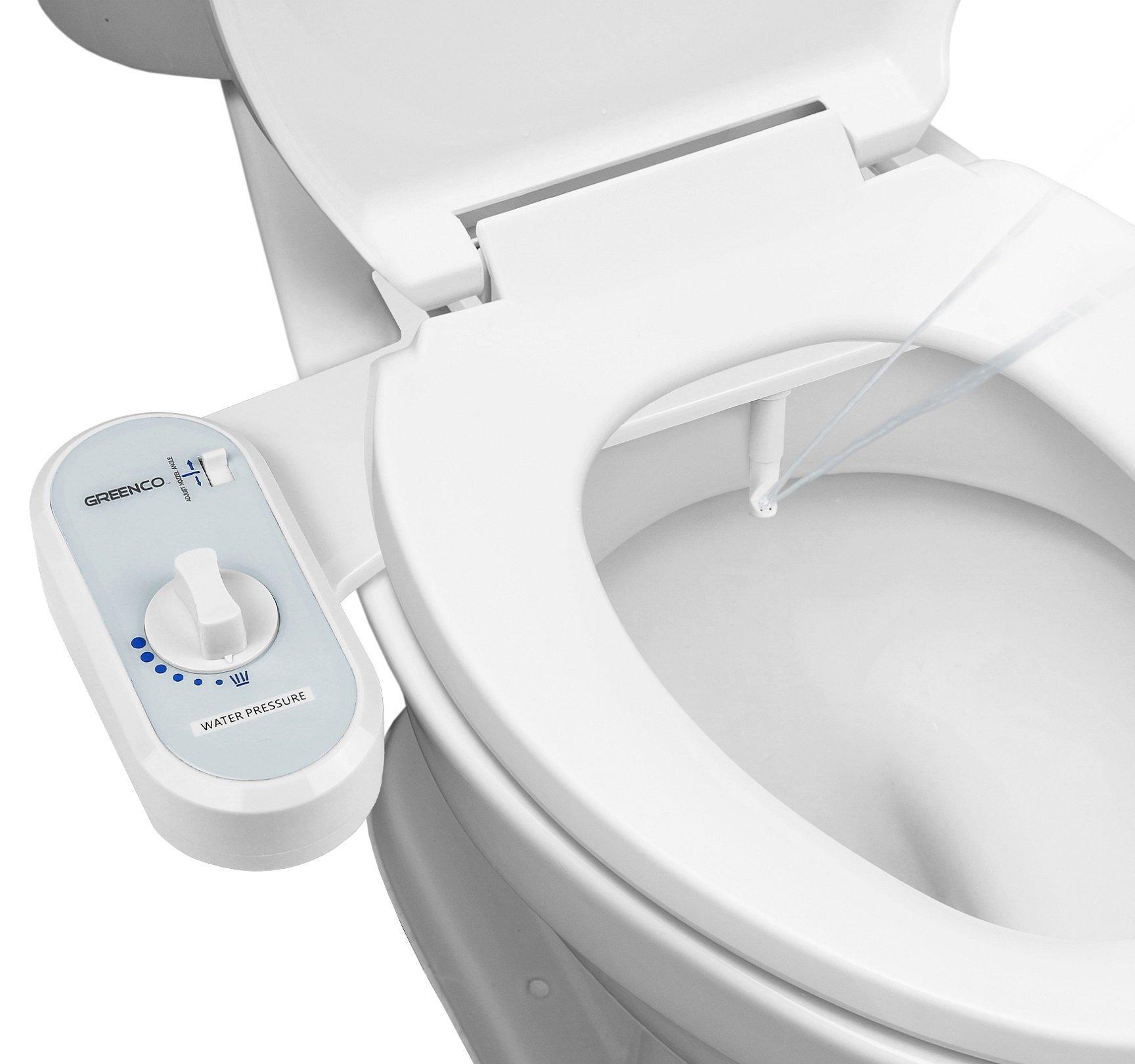 Greenco Non Electric Mechanical Toilet Attachment