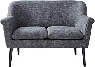Madison Park Davenport Rolled Arm Settee Charcoal See Below