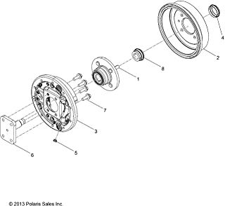 450 fits 5244635 500 ATVPC Rear Brake Rotor /& Pads for Polaris Sportsman 400 800 /& Ranger 500 600 XP 700 700 2202414