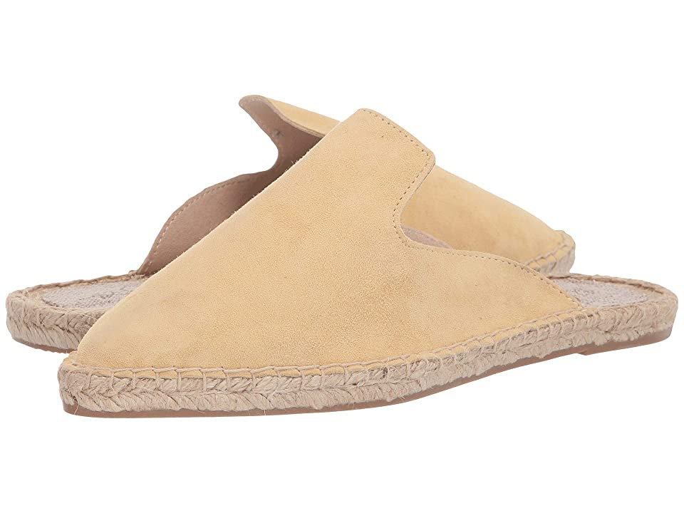Image of 42 GOLD Bermuda (Pale Yellow Suede) Women's Flat Shoes