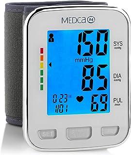Muñequera de presión arterial - Monitor de presión arterial y banda de máquina automática BP con pantalla LCD grande para lectura rápida y precisa