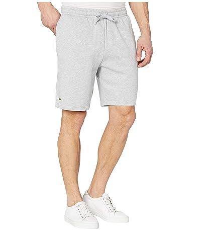 Lacoste Sport Fleece Shorts (Silver Grey Chine) Men