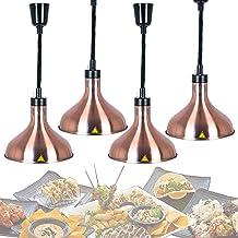 Lampe Chauffante pour Aliments, Lampe Chauffe-Plats pour Buffet Commercial, Suspension Luminaire Chauffante pour Pizza et ...
