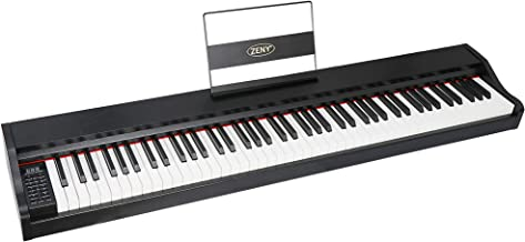 ZENY 88 Key Beginner Digital Piano Full Size Keyboard with S