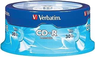 Verbatim 700MB 52x 80 Minute Recordable Disc CD-R, 30-Disc Spindle 95152