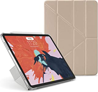 "Pipetto Origami iPad Case Pro 11"" (2018) with 5 in 1 Stand & auto Sleep/Wake Function Champagne Gold/Clear"