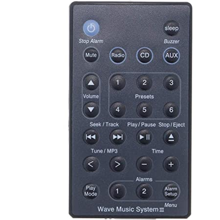 Ersatz Fernbedienung Für Bose Wave Radio//CD Schwarz