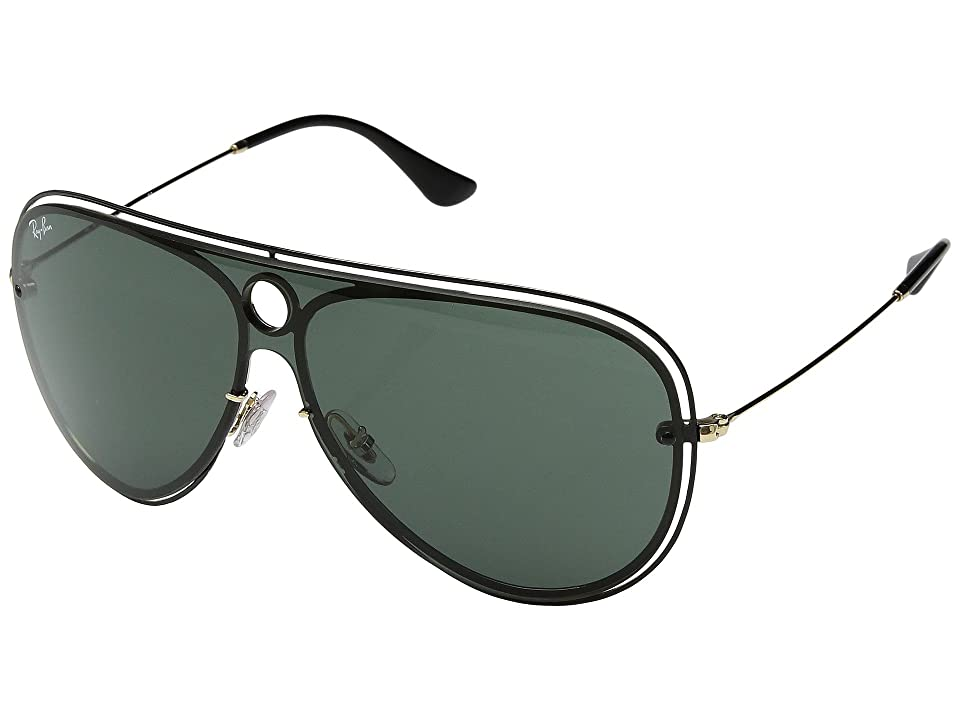 Ray-Ban 0RB3605N 32mm (Black/Dark Green) Fashion Sunglasses