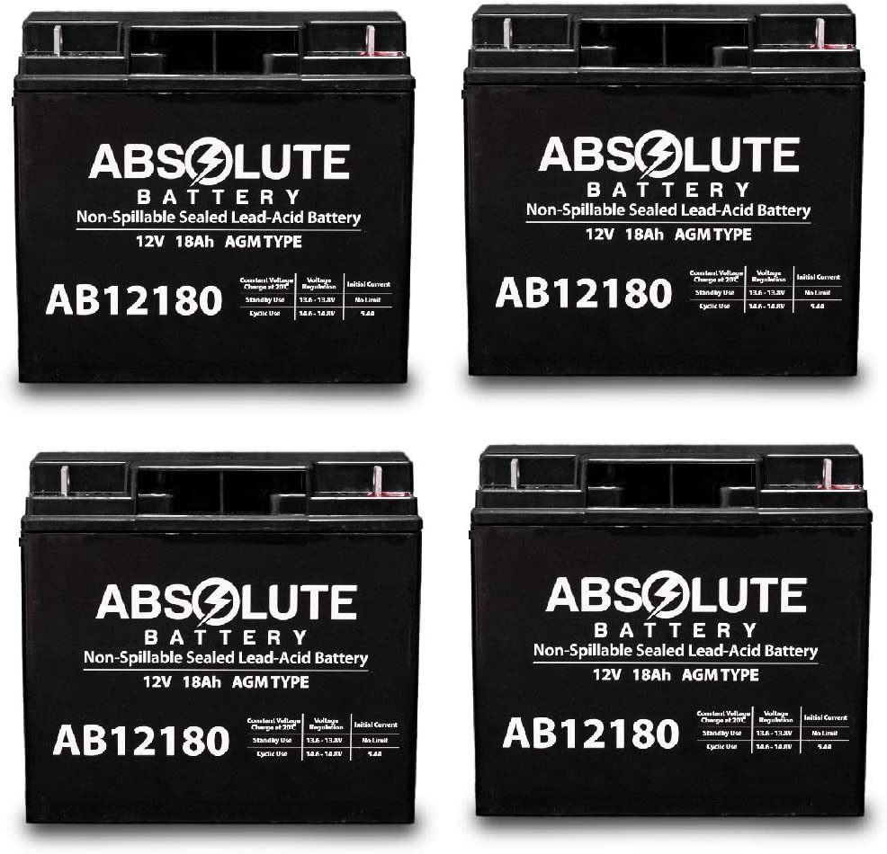 4 Pack Max 49% OFF AB12180 12V 18AH Terminal T4 Battery SLA NEW before selling Replacement