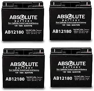 4 Pack AB12180 12V 18AH SealedAGM Battery YardWorks Electric Lawn Mower