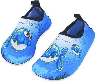 HMIYA Chaussures Aquatiques Enfants Filles Gar?ons Pieds Nus ¨¤ s¨¦chage Rapide Chaussures d'eau pour Plage Piscine Surf S...