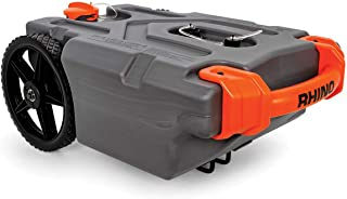Camco 39000 Rhino Heavy Duty 15 Gallon Portable RV Waste Holding Tank with Hose and Accessories - Durable Leak Free and Odorless RV Tote Tank