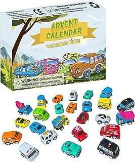 24st jul adventskalender leksak, jul advent nedräkningskalender barnbil leksaksuppsättning, barnfordon leksaker adventskal...