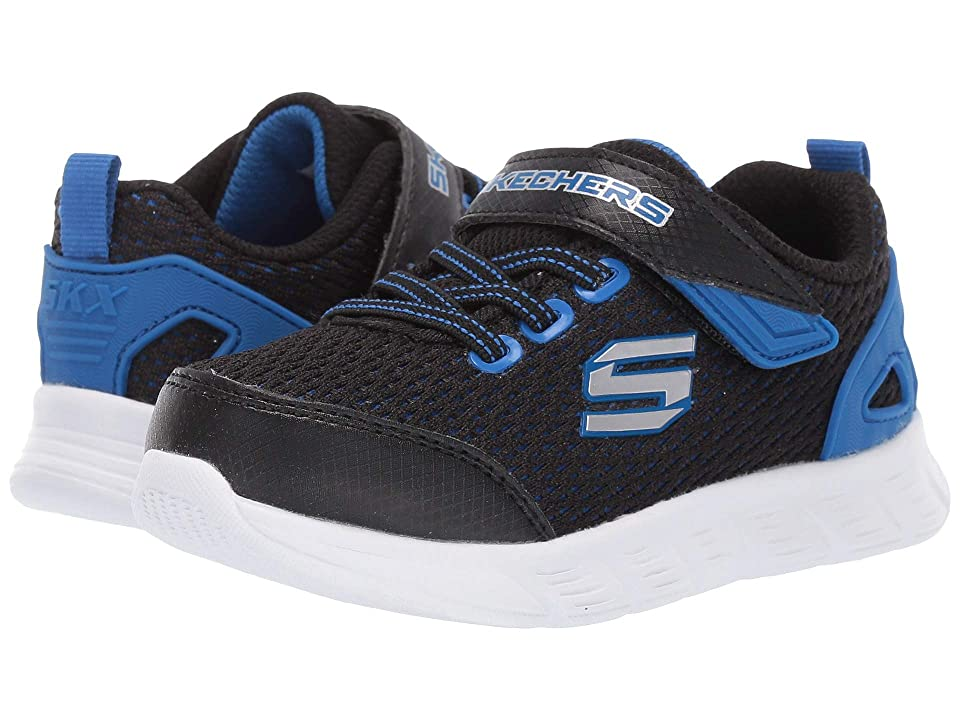SKECHERS KIDS Comfy Flex (Toddler/Little Kid) (Black/Royal 1) Boy
