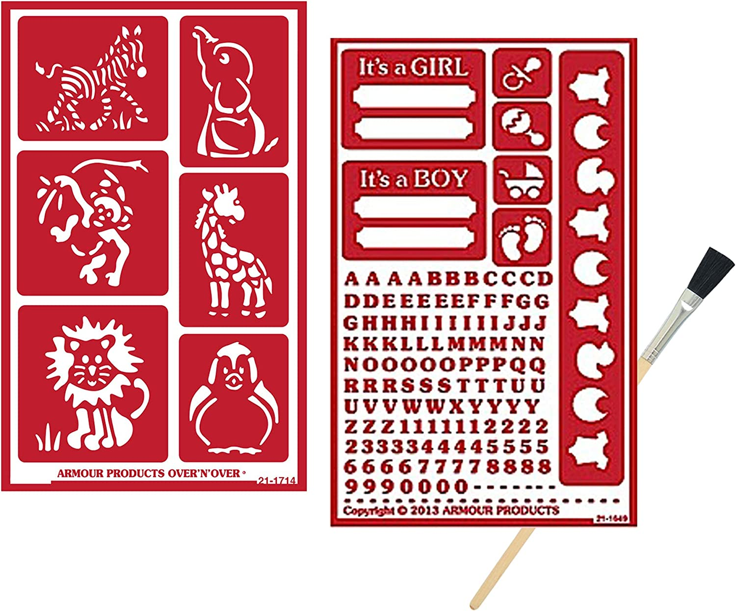 2 Armour Complete Free Shipping Now on sale Etch Over N Reusable Glass Set Etching Stencils