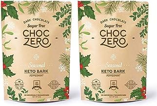 Sponsored Ad - ChocZero's Dark Chocolate Peppermint Keto Bark. Sugar Free, Low Carb. No Sugar Alcohols. (2 bags, 12 indivi...