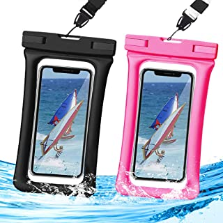 Homearda Waterproof Phone Pouch Floating,IPX8 Universal Waterproof Case, TPU Clear Dry Bag Compatible for iPhone Xs Max/Xr/X/8/8plus/7/7plus6/6s Galaxy Note Google Pixel up to 6.5