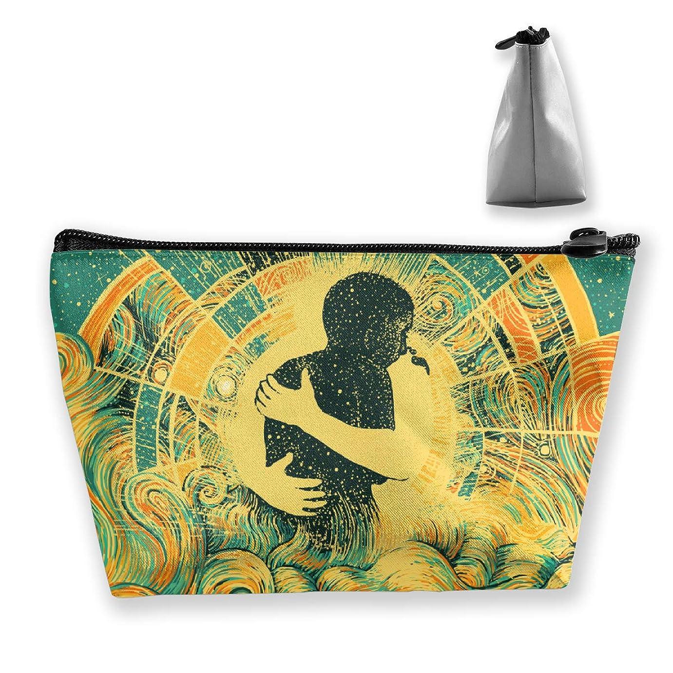 ハッピー抱擁 ペンケース文房具バッグ大容量ペンケース化粧品袋収納袋男の子と女の子多機能浴室シャワーバッグ旅行ポータブルストレージバッグ