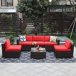 Amazon Com Red Conversation Sets Patio Furniture Sets Patio