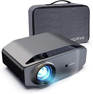 """Vamvo Proyector Nativo 1080p Full HD 6000 Lux con Dolby, Pantalla de Imagen Máx de 300 """"Ideal para Cine en casa, Entretenimiento, Fiesta, Video Juego y presentación Comercial, etc."""