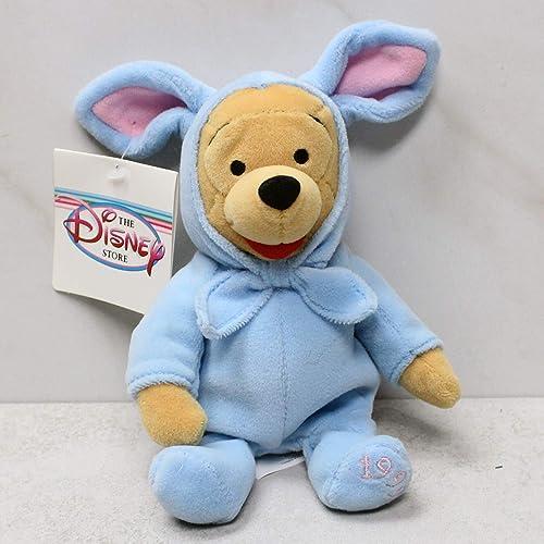 "Disney Store Easter POOH 1999 Mini Plush Bean Bag Figure 8/"" Beanie"