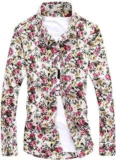 [アスペルシオ] 長そで 花がら カラフル 柄シャツ メンズ