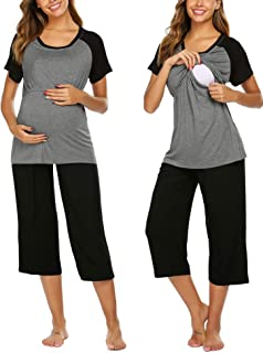 Double Layers Labor/Delivery/Nursing Maternity Pajamas...