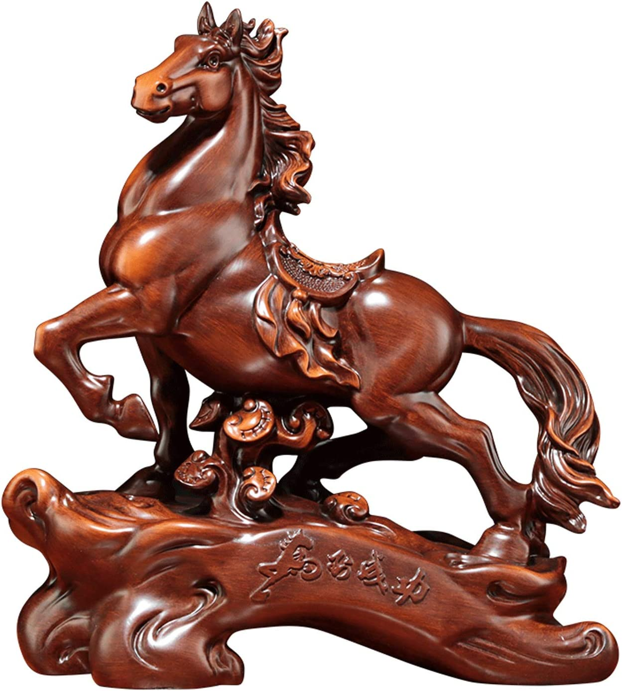 CJshop Max 63% OFF Home Decor Special price Statues Zodiac Horse Ornament Base with Resin