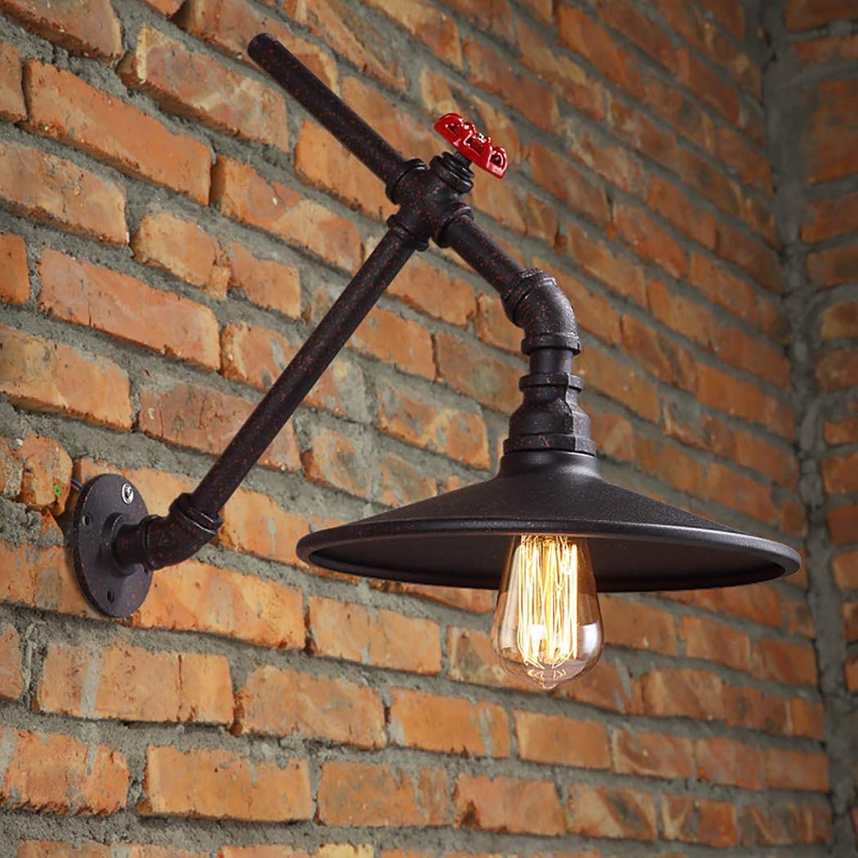 ZIXUAA Retro Balkon Wandleuchte Restaurant Bar Schlauchfertigung Wasserflasche Wandleuchte