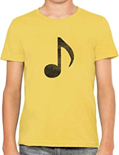 Austin Ink Apparel Little Music Note Soft Kids Unisex Boys Cotton T-Shirt Tee