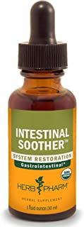 Herb Pharm Certified Organic Intestinal Soother Liquid Herbal Formula with Turmeric Extract - 1 Ounce