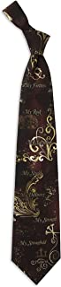 Men's Finely Crafted Inspirational Necktie - My Rock My Strength