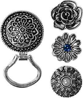 Evelots Eye Glass Brooch Holder-Snap On Buttons-Magnetic-Set 4 Different Designs