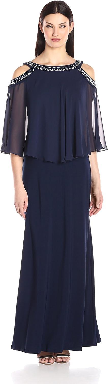 Alex Evenings Womens Cold Shoulder Popover Dress Dress