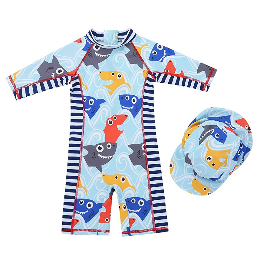 YiZYiF Baby Boys Toddler Stripes Short Sleeve UPF 50+ UV Protective Swimsuit Bathing Suit