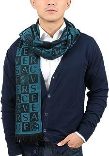 Versace IT00629 PETROLIO Teal 100% Wool Mens Scarf
