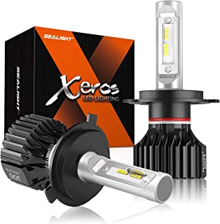 SEALIGHT H4 LED Headlight Bulb 9003 LED High/Low Beam Bulbs Fanless 6000K Cool White 12 CSP Chips