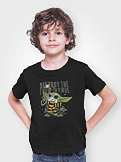 Baby Yoda Destroy Virus Youth Unisex T-Shirt |Gift for Him or Her|Family T-Shirt