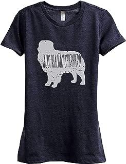 Australian Shepherd Dog Silhouette Women's Fashion Relaxed T-Shirt Tee