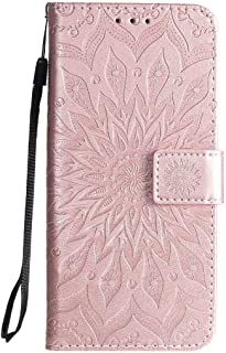 Hllycr A31 2020 Leather Flip Case Flip Kickstand Case with Card Slots Protective Cover for Oppo A31 2020 - Rose Gold