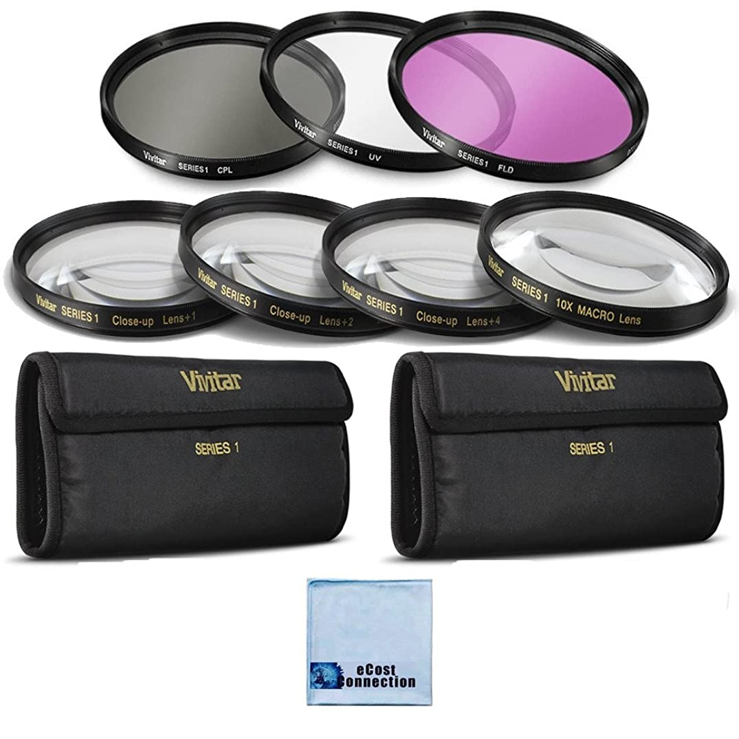 Vivitar 62mm High resolution Pro series Multi Coated HD 3 Pc. Digital Filter Set + 62mm Pro Series 4pc HD Macro Close Up Filter Set +1 +2 +4 +10 for Nikon AF Zoom Nikkor 70-300mm f/4-5.6G Lens, AF-S VR Micro-Nikkor 105mm f/2.8G IF-ED Lens, AF-S VR Micro-Nikkor 105mm f/2.8G IF-ED Lens, AF-S Micro-Nikkor 60mm f/2.8G ED Macro Autofocus Lens Telephoto AF Micro Nikkor 200mm f/4.0D ED-IF Autofocus Lens and More Models + eCost Microfiber Cleaning Cloth