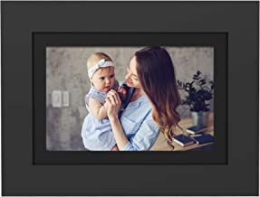"""PhotoShare Friends and Family Smart Frame 8"""" Digital Photo Frame, Send Pics from Phone to Frame, Wi-Fi, 8 GB, Holds Over 5,000 Photos, HD, 1080P, Black/White Mattes, iOS, Android"""