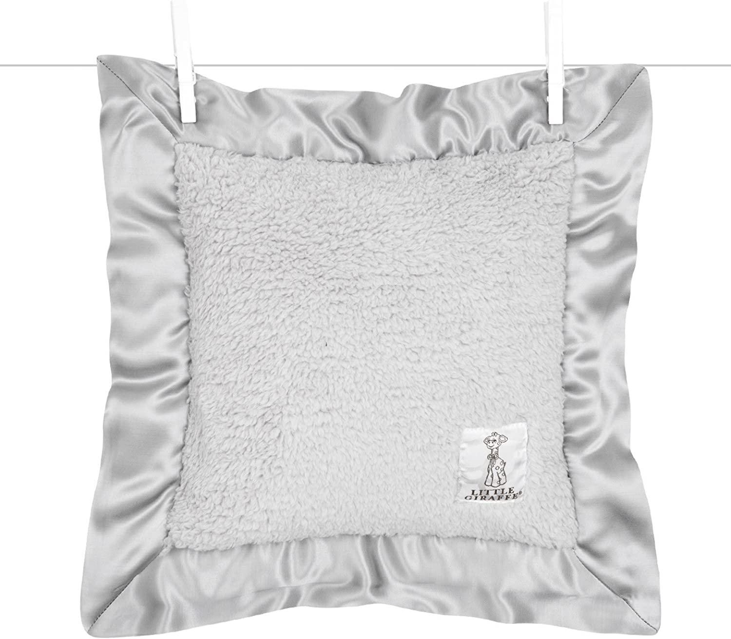 Little Giraffe Bella Pillow, Silver