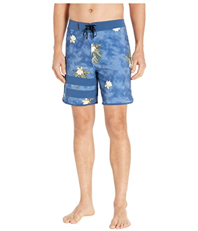 Hurley 18 Phantom Block Party Paradise Boardshorts (Mystic Navy) Men