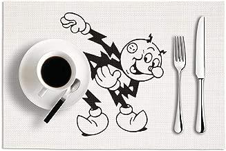 Reddy Kilowatt Logo Vinyl Non-Slip Heat Resistant Placemats Anti-skid Dining Table Mats Set Of 2,18