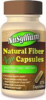 NuSyllium Organic Fiber, Vegan Capsules, 175Count, Beige