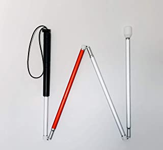 Quality Cane for The Blind with AMBUTECH Hook Style Tip (48 Inches)