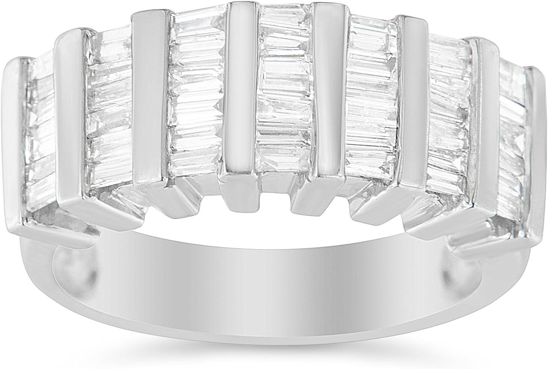 .925 Sterling Silver 1.0 Cttw Luxury Baguette Super intense SALE Cut Chan Diamond Vertical