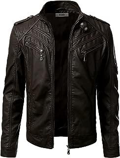 Best black leather jacket men Reviews